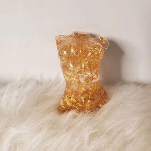 Gold Goddess Mini Resin Statue